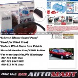 Alfa Romeo 164-SCHEME SILENCE (Double D) DIY Air Tight Slim Rubber Seal Stripe Sound & Wind Proof & Sound Proof for Car (4 Doors)