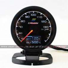 Greddy Oil Temp Multi D/A Dauge 7 Colour Display Universal Fit + Battery Volts