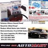 Alfa Romeo 145/146-SCHEME SILENCE (Double D) DIY Air Tight Slim Rubber Seal Stripe Sound & Wind Proof & Sound Proof for Car (4 Doors)
