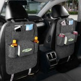 2x Car back seat Organizer Multifunctional Storage Back pocket Bag (Grey)