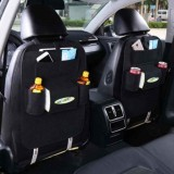 2x Car back seat Organizer Multifunctional Storage Back pocket Bag (Black)