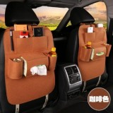 2x Car back seat Organizer Multifunctional Storage Back pocket Bag (brown)