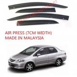 AG Air Press Door Visor Wind Deflector (Made in Malaysia) - Small 7 cm Width for HONDA CITY YR2003