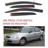 AG Air Press Door Visor Wind Deflector (Made in Malaysia) - Small 7 cm Width for HONDA CIVIC YR 1992-1995
