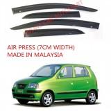 AG Air Press Door Visor Wind Deflector (Made in Malaysia) - Small 7 cm Width for HYUNDAI ATOS