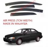 AG Air Press Door Visor Wind Deflector (Made in Malaysia) - Small 7 cm Width for HYUNDAI ELANTRA 1.8 YR2000