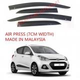AG Air Press Door Visor Wind Deflector (Made in Malaysia) - Small 7 cm Width for HYUNDAI I10