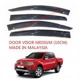 AG Car Window Door Visor Wind Deflector (Made in Malaysia) - Medium 10cm for Mitsubishi Storm / L200