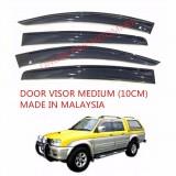 AG Car Window Door Visor Wind Deflector (Made in Malaysia) - Medium 10cm for Mitsubishi Storm