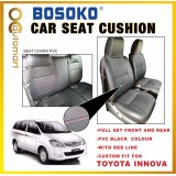 Toyota Innova - Custom Fit OEM Car Seat Cushion Cover PVC Black Colour Shining With Red Line