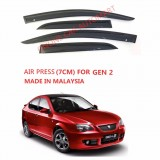 AG Air Press Door Visor Wind Deflector (Made in Malaysia) - Small 7cm Width for Proton Gen 2