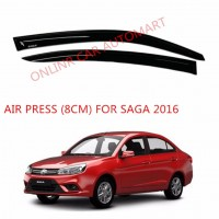 Air Press Car Window Door Visor Wind Deflector Anti UV Light 8cm (4PCS/SET) for Proton Saga 2016