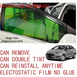OEM Pre-Cut Shape Magic Tinted Solar Tinted (4 Windows & Rear Window) 65% Crystal Green For Ford