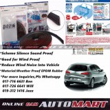 Alfa Romeo 147-SCHEME SILENCE (Double D) DIY Air Tight Slim Rubber Seal Stripe Sound & Wind Proof & Sound Proof for Car (4 Doors)