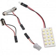 Car White 1210 SMD 15 LED Dome Light Panel T10 Festoon Lamp DC 12V