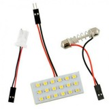 White LED Panel 18SMD 1210 Car Dome Lights T10 Lamp Bulb Festoon Indicator