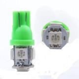 T10 LED 5 LED Light Bead SMD LED Car Interior Light Bulb Green - 1 Pair