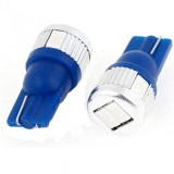 2 Pcs T10 Blue 6 Smd Led Wedge License Plate / Map Light Bulbs