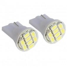 2 Pcs T10 8 SMD LED White Light Car Light Lamp Bulb