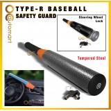 TYPE-R Baseball Safety Guard Tempered Steel Shaft Steering Wheel Lock