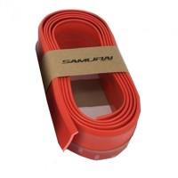 Samurai Skirt 3M Length Lip Universal Car Front Lip Bumper Rubber Strip-Red