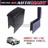 Armrest PVC Red Line For Perodua Kancil New