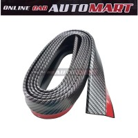 Samurai Skirt 3M Length Lip Universal Car Front Lip Bumper Rubber Strip - Carbon