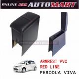 Armrest PVC Red Line For Perodua Viva