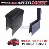 Armrest PVC Red Line For Perodua Kenari