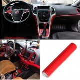 127x30cm Waterproof DIY Car Motorcycle Sticker Car Styling 4D Carbon Fiber Vinyl Wrapping Film - Red