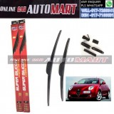 ALFA ROMEO MITO Yr2008-ORIGINAL KW Super High Quality Silicone Hybrid Wiper-With Multifunction Clip-1 Pair (Made in Germany)-15 inch & 26 inch