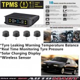Alfa Romeo 145/146-TPMS Tire Pressure Monitor System T85 - Solar Power Wireless External Black Sensor  - Tire Pressure Monitor Tool