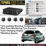 Alfa Romeo 147-TPMS Tire Pressure Monitor System T85 - Solar Power Wireless External Black Sensor  - Tire Pressure Monitor Tool