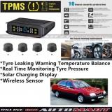 Alfa Romeo 164-TPMS Tire Pressure Monitor System T85 - Solar Power Wireless External Black Sensor  - Tire Pressure Monitor Tool