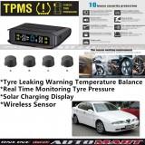 Alfa Romeo 166-TPMS Tire Pressure Monitor System T85 - Solar Power Wireless External Black Sensor  - Tire Pressure Monitor Tool