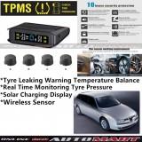 Alfa Romeo 156-TPMS Tire Pressure Monitor System T85 - Solar Power Wireless External Black Sensor  - Tire Pressure Monitor Tool