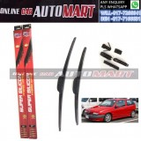 ALFA ROMEO 145/146 Yr1997-ORIGINAL KW Super High Quality Silicone Hybrid Wiper-With Multifunction Clip-1 Pair (Made in Germany)-19 inch & 22 inch