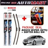 Chevrolet Cruze - (PACKAGE DEAL) Bosch Aerotwin Wiper Blade (Sets) with Soft99 Glaco Roll On RAIN REPELLANT - 18 inch & 24 inch