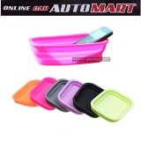 Car Non Slip Silicone Foldable Storage Box - Pink