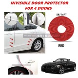 BMW Z4 - 16FT/5M (RED) Moulding Trim Rubber Strip Auto Door Scratch Protector Car Styling Invisible Decorative Tape (4 Doors)