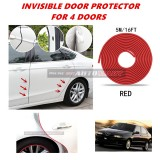 Alfa Romeo 145/146 - 16FT/5M (RED) Moulding Trim Rubber Strip Auto Door Scratch Protector Car Styling Invisible Decorative Tape (4 Doors)