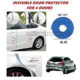 Alfa Romeo 147 - 16FT/5M (BLUE) Moulding Trim Rubber Strip Auto Door Scratch Protector Car Styling Invisible Decorative Tape (4 Doors)