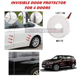BMW X5 (E70) - 16FT/5M (WHITE) Moulding Trim Rubber Strip Auto Door Scratch Protector Car Styling Invisible Decorative Tape (4 Doors)