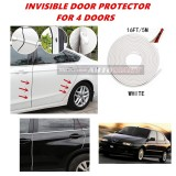 Alfa Romeo 145/146 - 16FT/5M (WHITE) Moulding Trim Rubber Strip Auto Door Scratch Protector Car Styling Invisible Decorative Tape (4 Doors)