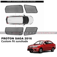 Custom Fit OEM Sunshades/ Sun shades for Proton Saga Yr 2016 - 4pcs