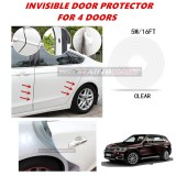 BMW X5 (E70) - 16FT/5M (CLEAR) Moulding Trim Rubber Strip Auto Door Scratch Protector Car Styling Invisible Decorative Tape (4 Doors)