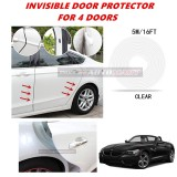 BMW Z4 - 16FT/5M (CLEAR) Moulding Trim Rubber Strip Auto Door Scratch Protector Car Styling Invisible Decorative Tape (4 Doors)