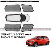 Custom Fit OEM Sunshades/ Sun shades for Perodua Myvi Yr 2018- 4pcs