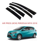 Air Press Car Window Door Visor Wind Deflector Anti UV Light 8cm (4PCS/SET) for Perodua Myvi 2018