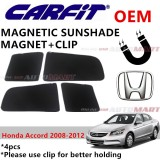CARFIT OEM Magnetic Custom Fit Sunshade For Honda Accord Yr 2008-2012 (4pcs Sets)